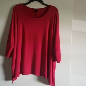 Oversized Top by ana Dark Pink Size Large